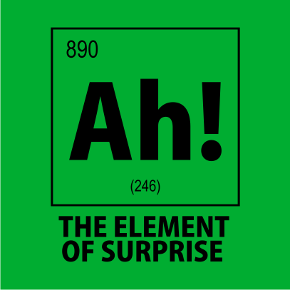 ah the element of surprise nerdy t-shirt kelly green