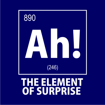 ah the element of surprise nerdy t-shirt navy