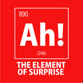 ah the element of surprise nerdy t-shirt red