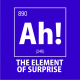 ah the element of surprise nerdy t-shirt royal blue
