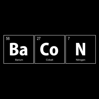 bacon elements nerdy t-shirt black