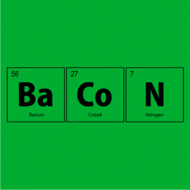 bacon elements nerdy t-shirt kelly green