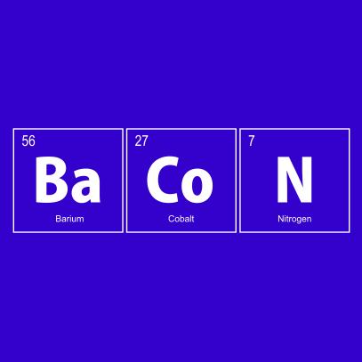 bacon elements nerdy t-shirt royal blue