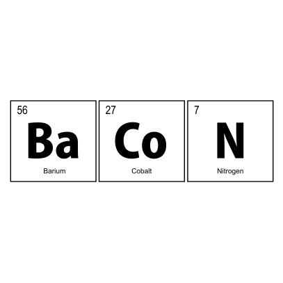 bacon elements nerdy t-shirt white