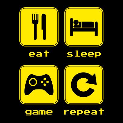 Hasil gambar untuk sleep eat repeat