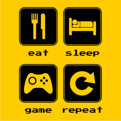eat sleep game repeat 2 sunflower
