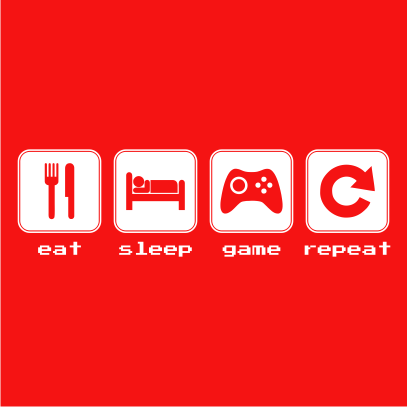 eat sleep game repeat red