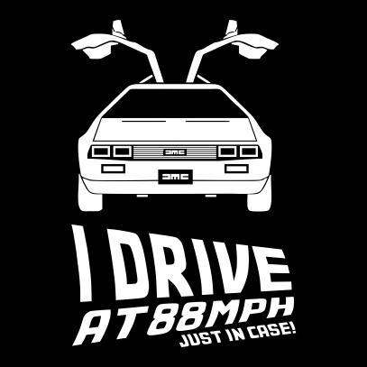 i drive at 88mph black