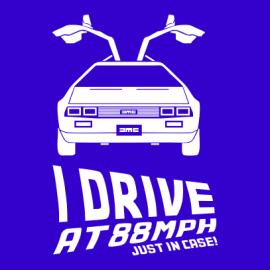 i drive at 88mph blue
