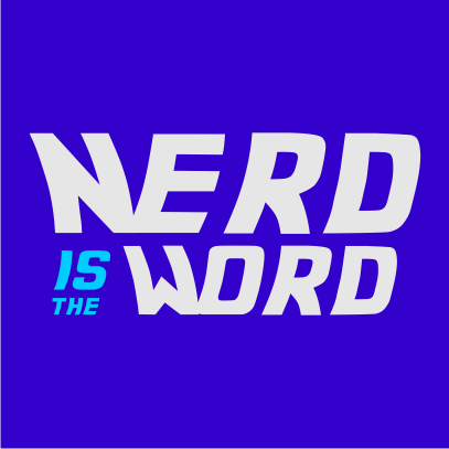 nerd is the word royal blue