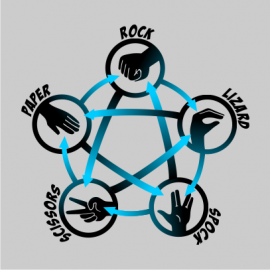 rock paper scissors lizard spock grey