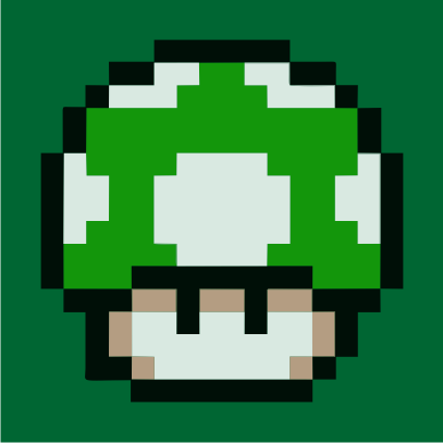 1UP Mushroom bottle green