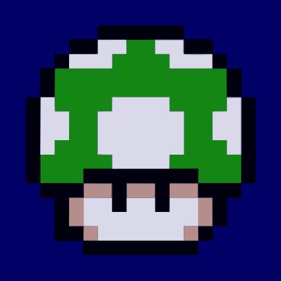 1UP Mushroom navy