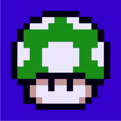 1UP Mushroom royal blue