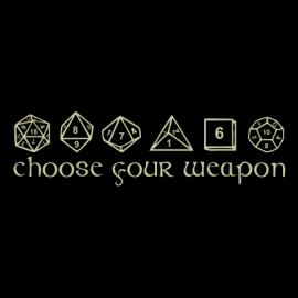 choose your weapon black