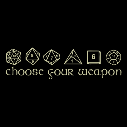Choose your weapon juicebubble t shirts