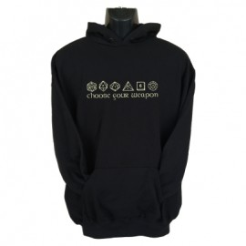 choose your weapon hoodie black