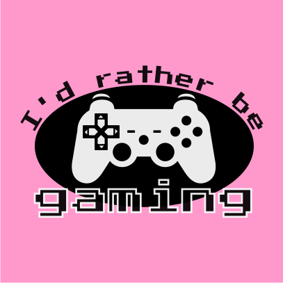 id rather be gaming light pink