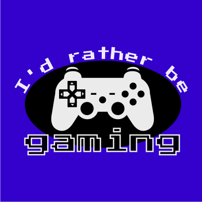 id rather be gaming royal blue