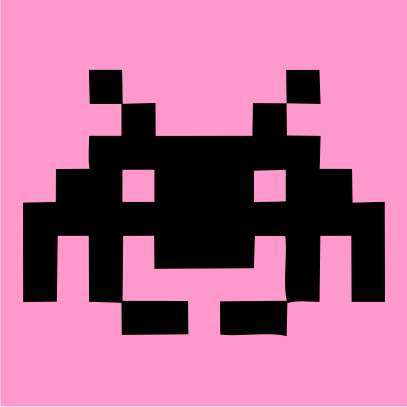 space invaders light pink
