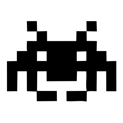 space invaders white