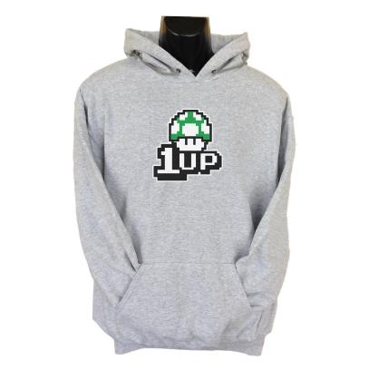 1up hoodie grey