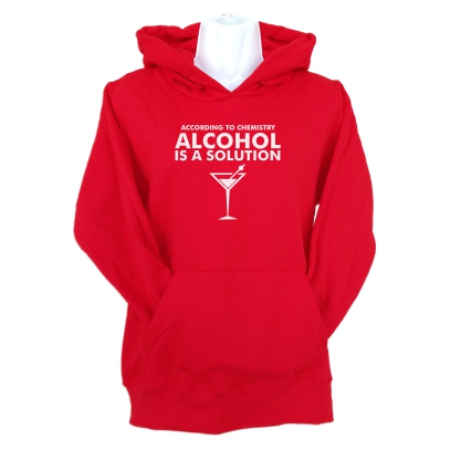 according to chemistry hoodie red
