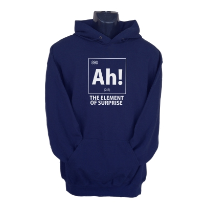 ah the element of surprise hoodie navy