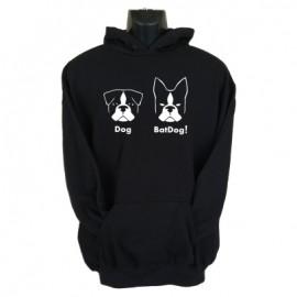 batdog hoodie black
