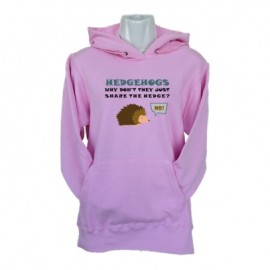 hedgehogs light pink hoodie