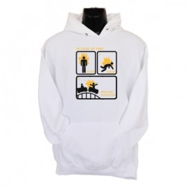 in case of fire hoodie white