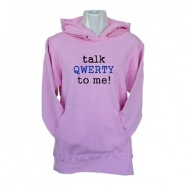 talk qwerty to me light pink hoodie