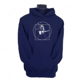vitruvian guitar hoodie navy