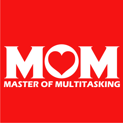 Multitasking Mom red