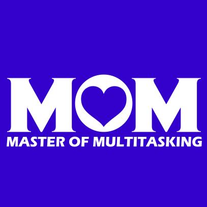 Multitasking Mom royal blue