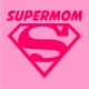 Supermom on light pink