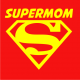 Supermom on red