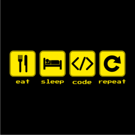eat sleep code black