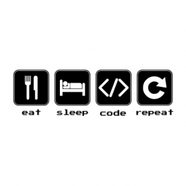 eat sleep code white