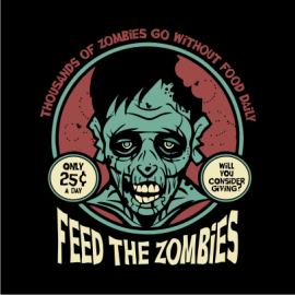 feed the zombies black