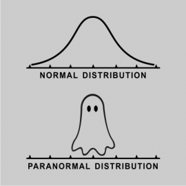 normal paranormal distribution grey