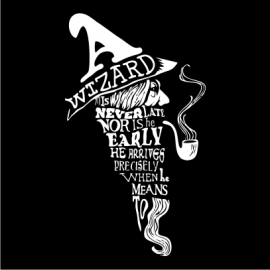 a wizard is never late black