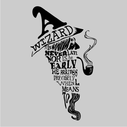 a wizard is never late grey