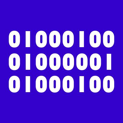 binary dad royal blue