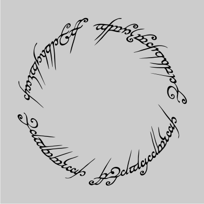 lord of the rings script grey