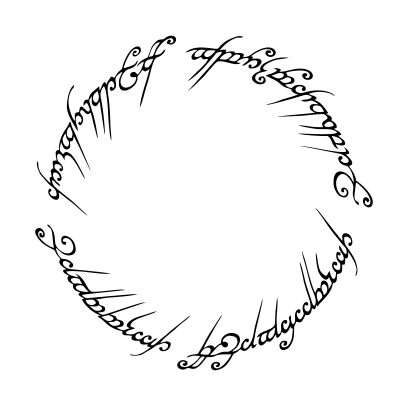lord of the rings script white