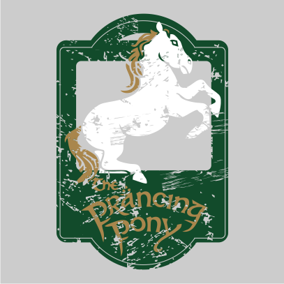lotr the prancing pony grey