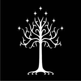 lotr tree of gondor black