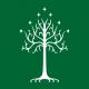 lotr tree of gondor bottle green