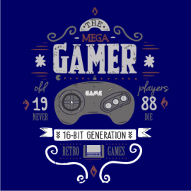 the mega gamer navy